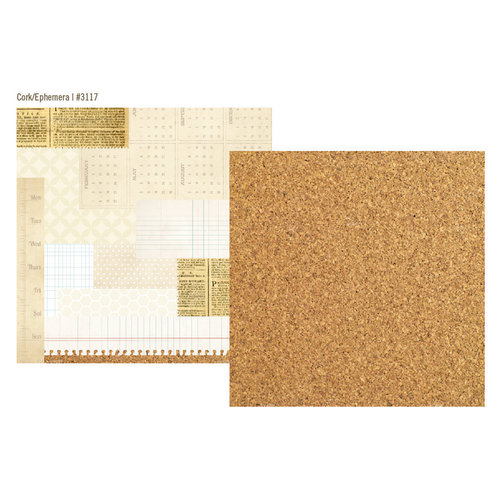 Simple Stories - 24 Seven Collection - 12 x 12 Double Sided Paper - Cork