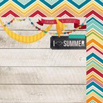 Simple Stories - I Heart Summer Collection - 12 x 12 Double Sided Paper - Sunshine and Laugher