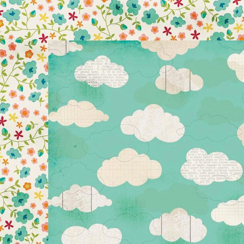 Simple Stories - I Heart Summer Collection - 12 x 12 Double Sided Paper - Feel the Breeze
