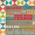 Simple Stories - I Heart Summer Collection - 12 x 12 Double Sided Paper - Porch Rules