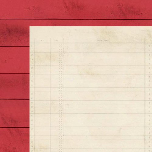 Simple Stories - I Heart Summer Collection - 12 x 12 Double Sided Paper - Red Boardwalk