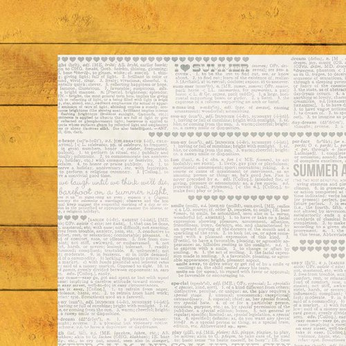 Simple Stories - I Heart Summer Collection - 12 x 12 Double Sided Paper - Yellow Boardwalk