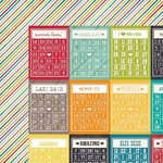 Simple Stories - I Heart Summer Collection - 12 x 12 Double Sided Paper - Bingo Cards