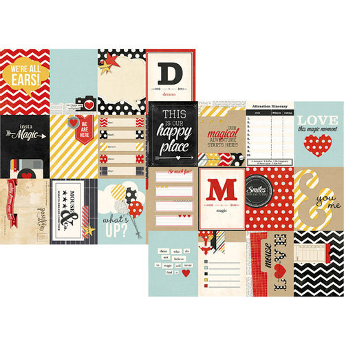 Simple Stories - Say Cheese Collection - 12 x 12 Double Sided Paper - 3 x 4 Journaling Card Elements