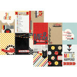 Simple Stories - Say Cheese Collection - 12 x 12 Double Sided Paper - 4 x 6 Vertical Journaling Card Elements