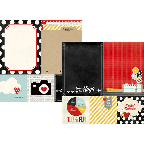 Simple Stories - Say Cheese Collection - 12 x 12 Double Sided Paper - Quote and Photo Mat Elements