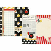 Simple Stories - Say Cheese Collection - 12 x 12 Double Sided Paper - Page Elements
