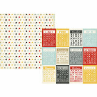Simple Stories - Say Cheese Collection - 12 x 12 Double Sided Paper - Bingo Cards