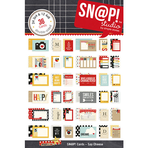 Simple Stories - SNAP Collection - 4 x 6 Cards - Say Cheese