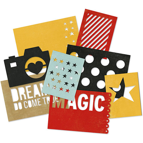 Simple Stories - SNAP Collection - SNAP Cuts - 4 x 6 Die Cut Cards - Say Cheese