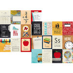 Simple Stories - Smarty Pants Collection - 12 x 12 Double Sided Paper - 3 x 4 Journaling Card Elements