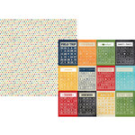 Simple Stories - Smarty Pants Collection - 12 x 12 Double Sided Paper - Bingo Card