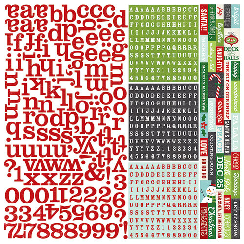 Simple Stories - December Documented Collection - Christmas - 12 x 12 Cardstock Stickers - Expressions