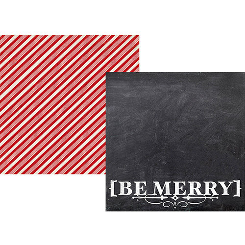 Simple Stories - December Documented Collection - Christmas - 12 x 12 Double Sided Paper - Be Merry