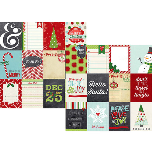 Simple Stories - December Documented Collection - Christmas - 12 x 12 Double Sided Paper - 3 x 4 Journaling Card Elements