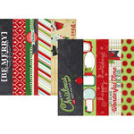 Simple Stories - December Documented Collection - Christmas - 12 x 12 Double Sided Paper - Border and Title Strip Elements