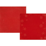 Simple Stories - December Documented Collection - Christmas - 12 x 12 Double Sided Paper - Red Snowflake