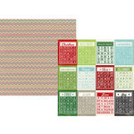 Simple Stories - December Documented Collection - Christmas - 12 x 12 Double Sided Paper - Bingo Cards