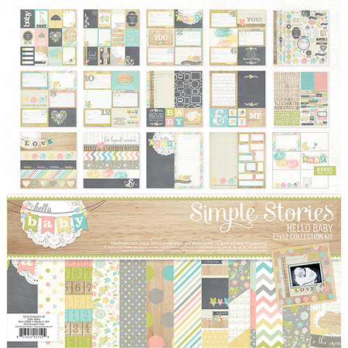 Simple Stories - Hello Baby Collection - 12 x 12 Collection Kit
