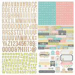 Simple Stories - Hello Baby Collection - 12 x 12 Cardstock Stickers - Expressions