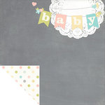 Simple Stories - Hello Baby Collection - 12 x 12 Double Sided Paper - Hello Baby