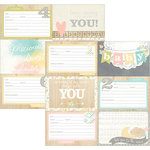 Simple Stories - Hello Baby Collection - 12 x 12 Double Sided Paper - 4 x 6 Horizontal Journaling Card Elements 1