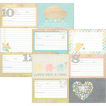 Simple Stories - Hello Baby Collection - 12 x 12 Double Sided Paper - 4 x 6 Horizontal Journaling Card Elements 2
