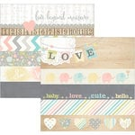 Simple Stories - Hello Baby Collection - 12 x 12 Double Sided Paper - Borders and Title Strip Elements