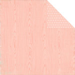 Simple Stories - Hello Baby Collection - 12 x 12 Double Sided Paper - Pink Wood