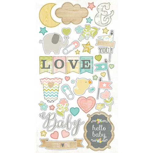 Simple Stories - Hello Baby Collection - Chipboard Stickers