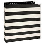 Simple Stories - SNAP Collection - Designer Binder - Black Stripe