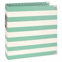 Simple Stories - SNAP Studio Collection - Designer Binder - Robins Egg Stripe