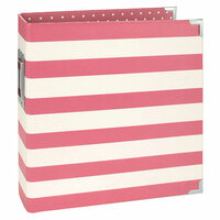 Simple Stories - SNAP Collection - Designer Binder - Pink Stripe