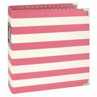 Simple Stories - SNAP Studio Collection - Designer Binder - Pink Stripe