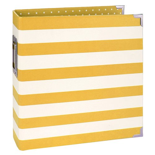 Simple Stories - SNAP Collection - Designer Binder - Yellow Stripe