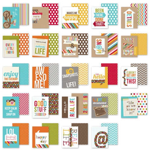 Simple Stories - SNAP Studio Collection - 3 x 4 Cards - Snappy Sayings
