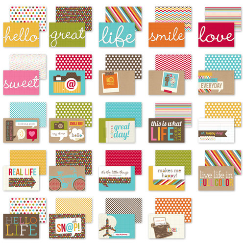 Simple Stories - SNAP Studio Collection - 4 x 6 Cards - Snappy Sayings