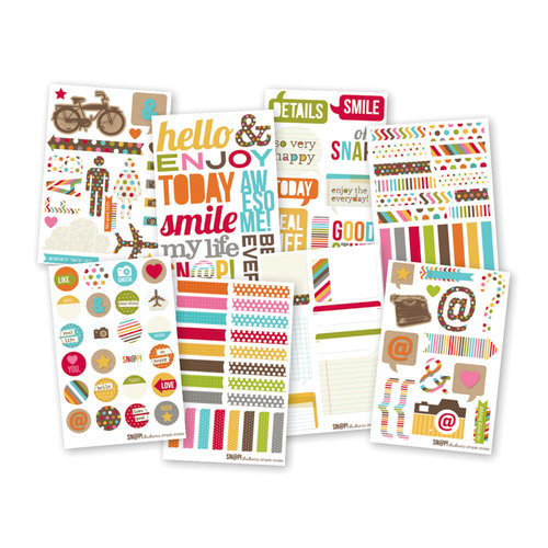 Simple Stories - SNAP Studio Collection - Cardstock Stickers - Icons
