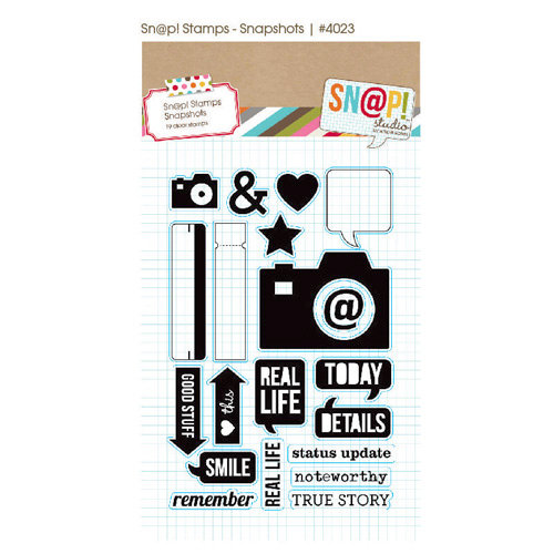 Simple Stories - SNAP Studio Collection - Clear Acrylic Stamps - Snapshots