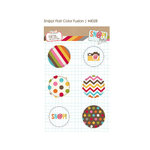 Simple Stories - SNAP Studio Collection - Flair - 6 Adhesive Badges - Color Fusion