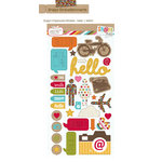 Simple Stories - SNAP Studio Collection - Chipboard Stickers - Hello