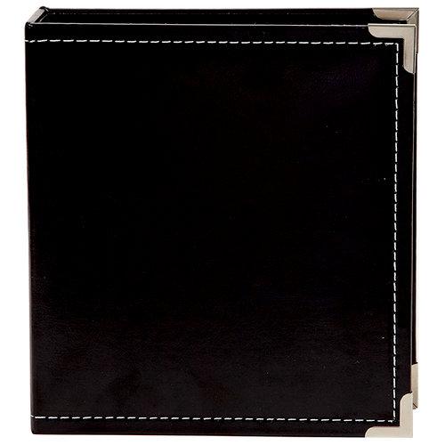 Simple Stories - SNAP Studio Collection - 6 x 8 Faux Leather Album - Black