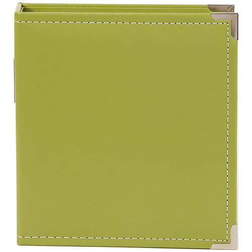 Simple Stories - SNAP Studio Collection - 6 x 8 Faux Leather Album - Green