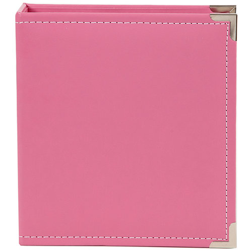 Simple Stories - SNAP Studio Collection - 6 x 8 Faux Leather Album - Pink