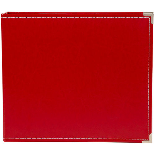 Simple Stories - SNAP Studio Collection - 12 x 12 Faux Leather Album - Red