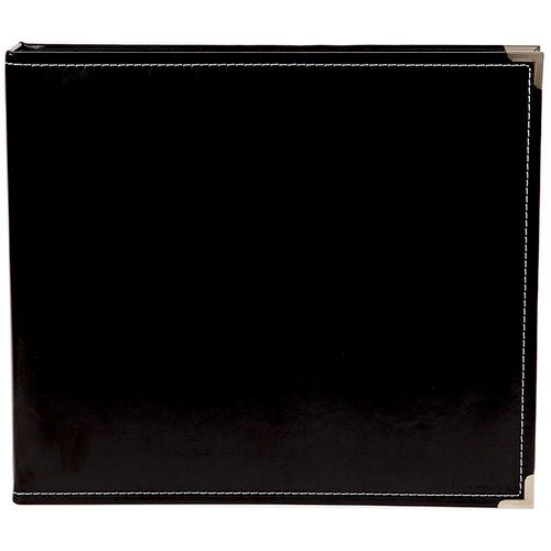 Simple Stories - SNAP Studio Collection - 12 x 12 Faux Leather Album - Black