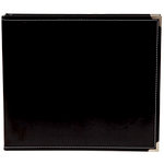 Simple Stories - SNAP Studio Collection - 12 x 12 Faux Leather Album - Black