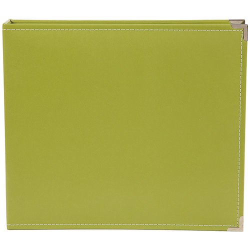 Simple Stories - SNAP Studio Collection - 12 x 12 Faux Leather Album - Green