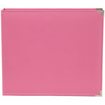 Simple Stories - SNAP Studio Collection - 12 x 12 Faux Leather Album - Pink