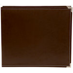 Simple Stories - SNAP Studio Collection - 12 x 12 Faux Leather Album - Brown
